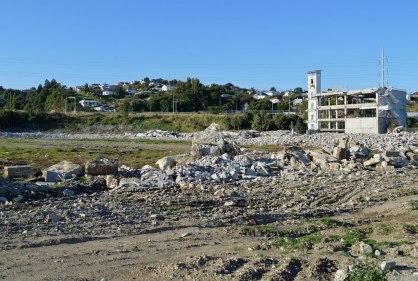Carisbrook under demolition in 2013