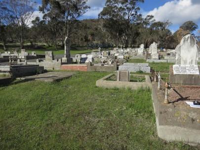 Boldini's unmarked grave in Maldon Cemetery