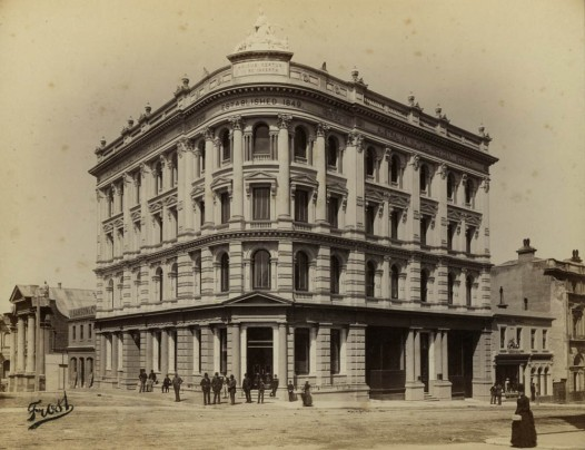 AMP Building, Princes and Dowling streets, Dunedin. Image: Frost, Toitū / Otago Settlers Museum 32-49-1.