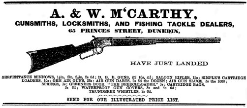An advertisement from the Otago Witness, 18 January 1894, p.44.