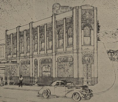 Perspective drawing by Stone & Sturmer, architects (Evening Star, 21 March 1939 p.3, with thanks to Dunedin Public Libraries)