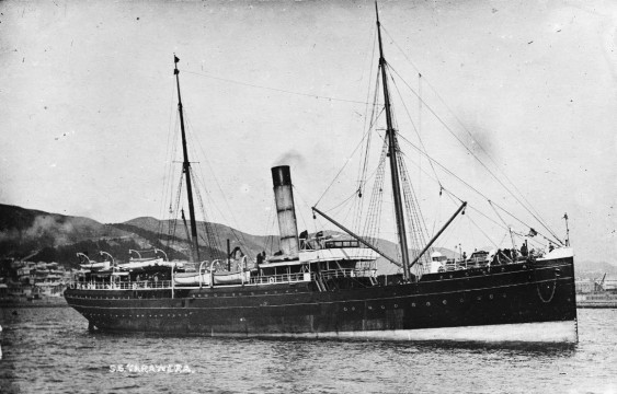 The Tarawera, one of the large new vessels which entered service for the Union Company in 1883. Image: John Dickie, Alexander Turnbull Library 1/2-031815-G http://natlib.govt.nz/records/23208710