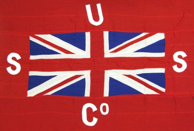 Flag of the Union Steam Ship Company. Image: Museum of Wellington City and Sea 2005.4970.90.