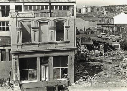 Wellcome Building site, Frederick Street, c.1961. Hardwicke Knight photo.