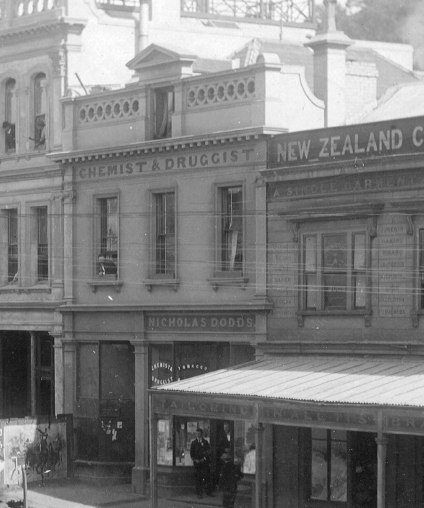 Detail from photograph by D.A. De Maus taken in March 1900. Ref: Port Chalmers Museum.