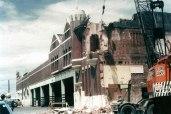 Car shed, Transport Place, partial demolition 1973. Photo: DCC Archives.