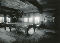 Billiard room. C.M. Collins photographer.