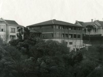 A view of the house when new in 1927. C.M. Collins photographer. Ambrose and Ruby Hudson's old house on the right was demolished not long after this photograph was taken.